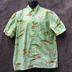 Columbia River Lodge Short Sleeved Button Shirt